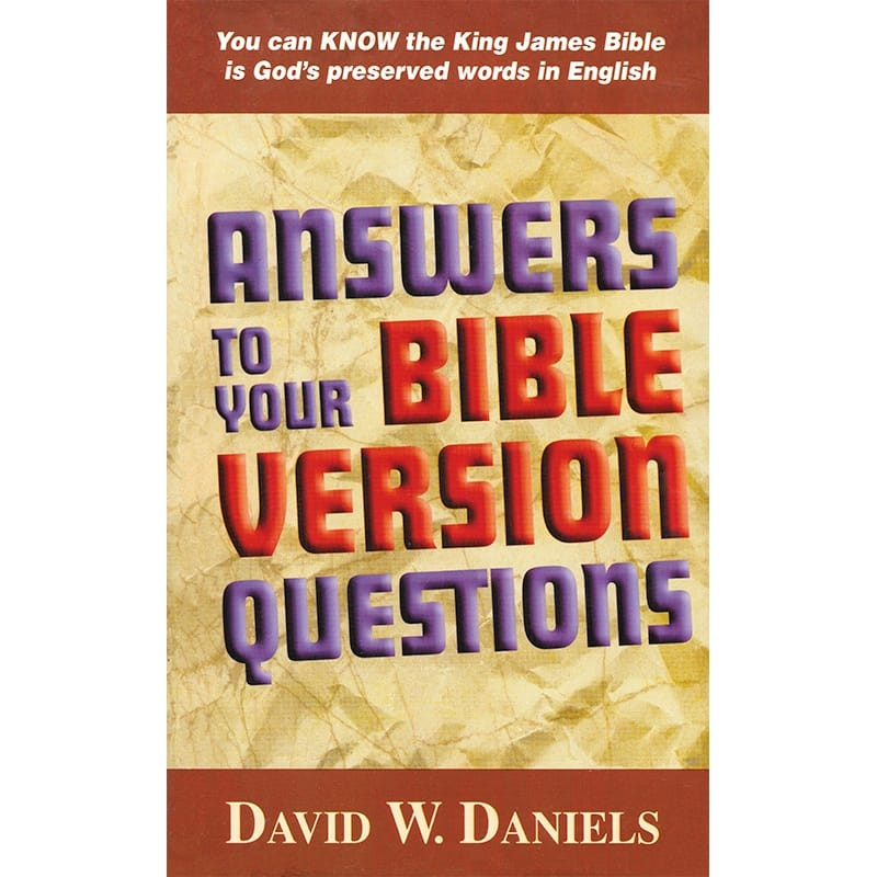 Answers to Your Bible Version Questions Front
