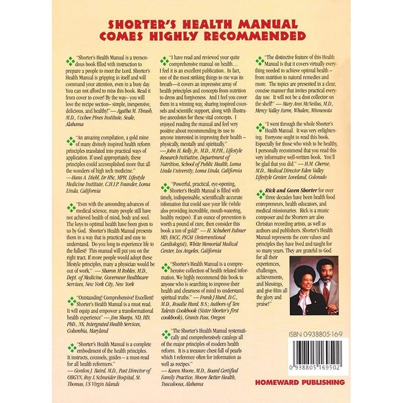 Shorter's Health Manual Back