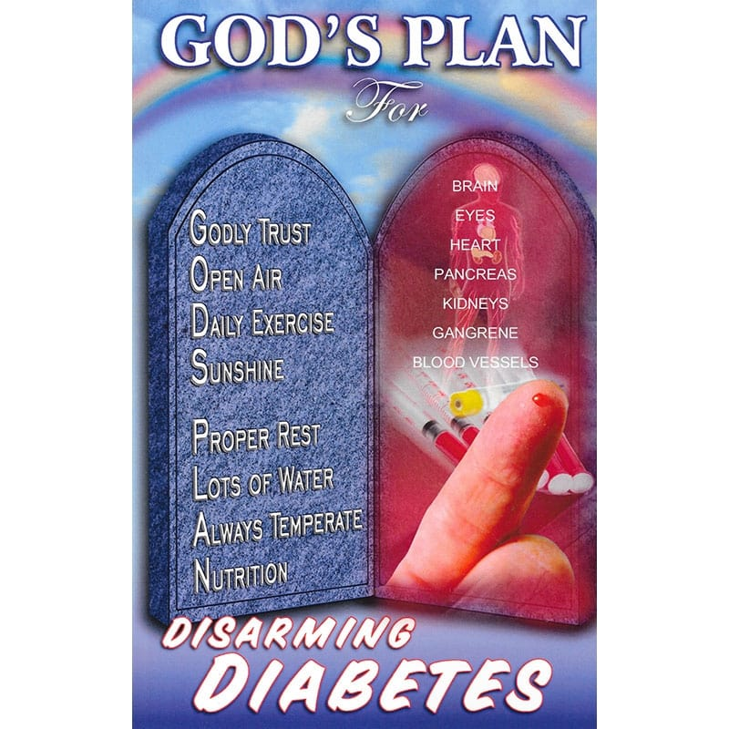 God's Plan for Disarming Diabetes Front