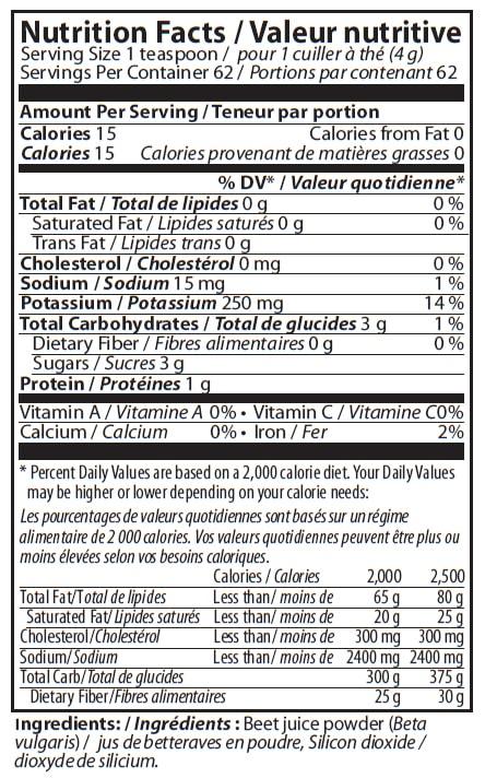 Aim RediBeets Nutrition Facts