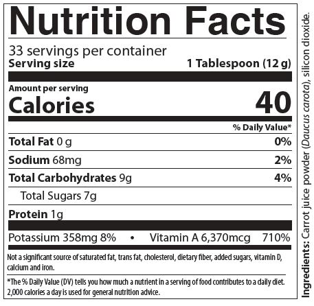 Just Carrots Nutrition Facts