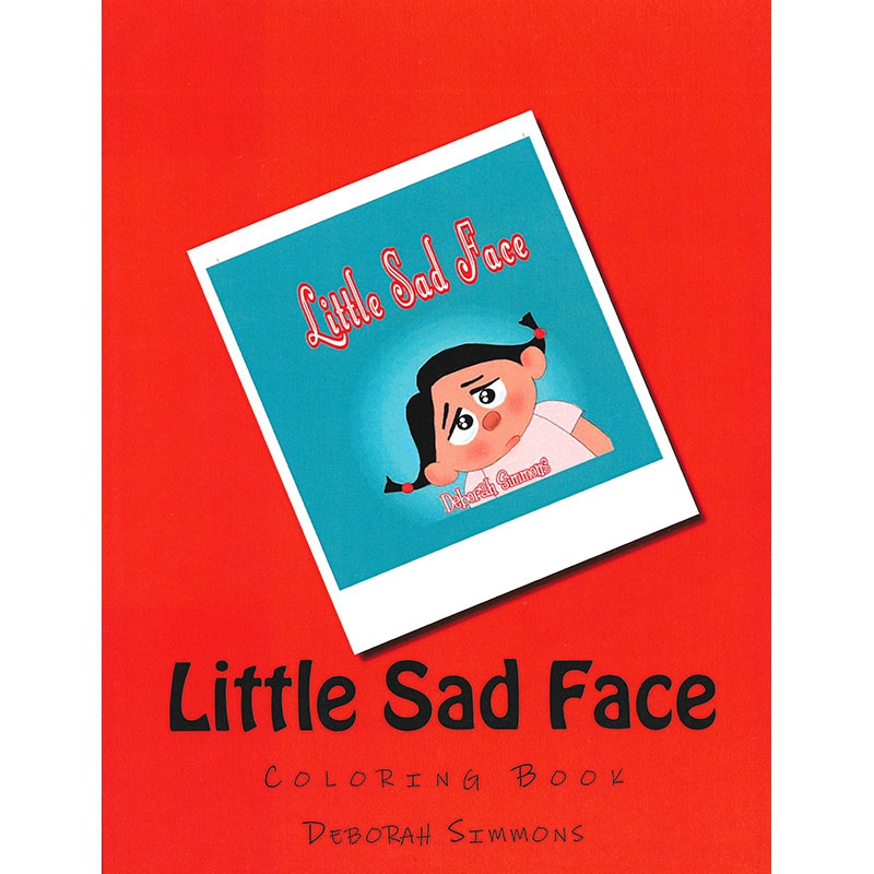 Little Sad Face Coloring Book Front